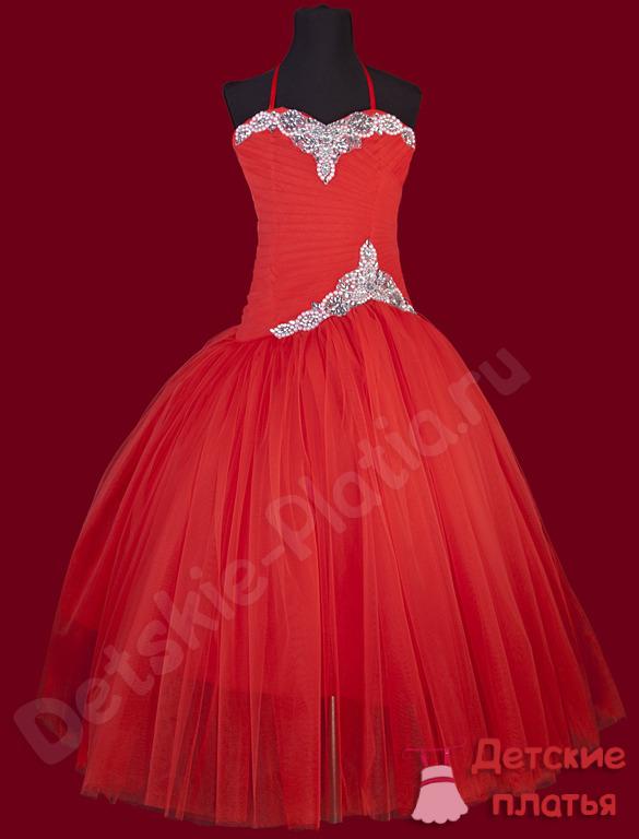 Детские красные платья купить в